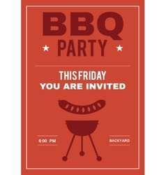 Bbq party invite poster of invitation card with vector