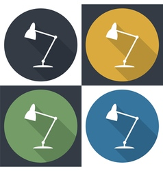 Table lamp set icon vector