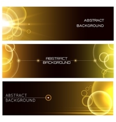 Abstract glowing banner set vector
