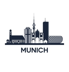 Munich skyline emblem vector