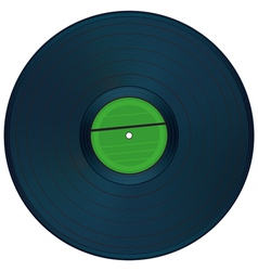 Gramophone disc vector