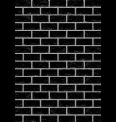 Black old brick vertical background vector