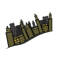 Buildings and cityscape side scene icon vector