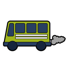 bus transport vehicle icon vector image