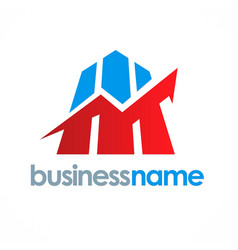 business finance stock logo vector image