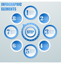 Business Info graphic from circles with pointer vector image