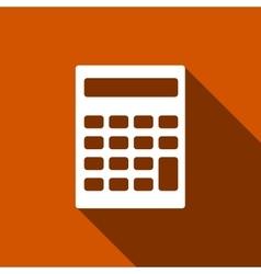 Calculator icon with long shadow vector image vector image