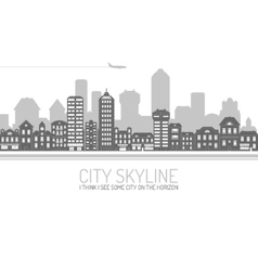 City Skyline Black vector image vector image