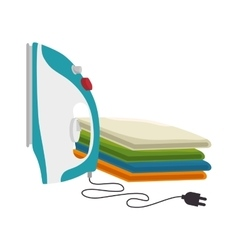 clothes with iron isolated icon vector image
