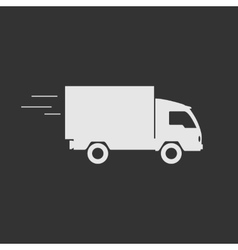 Delivery truck contour flat icon vector image
