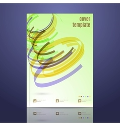 Design for cover layout in a4 size vector