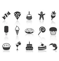 Dessert icons set vector
