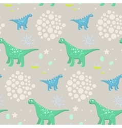 Dinosaur kid seamless pattern for textile vector