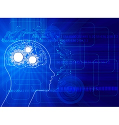 human brain background vector image