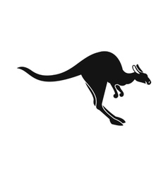 Kangaroo icon simple style vector