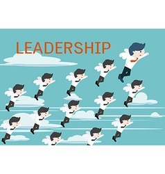 Leadership cute business man vector