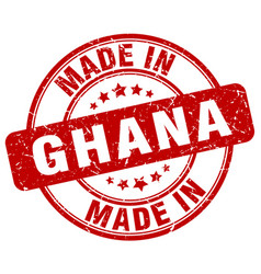 Made in ghana red grunge round stamp vector