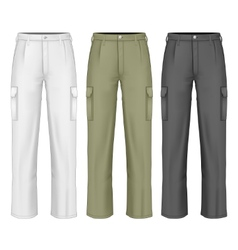 Men work trousers vector