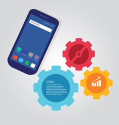Mobile smart-phone communication technology vector