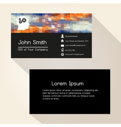 Multicolor low polygon colorful business card vector