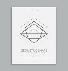 Mystic geometric lines vector