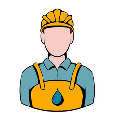 Oilman icon icon cartoon vector