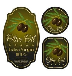 olive black label vector image