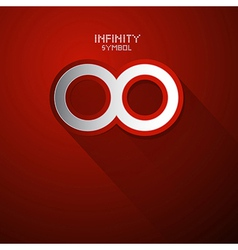 Paper Infinity Symbol vector image vector image