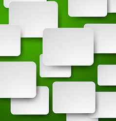 Paper white notes on green vector image