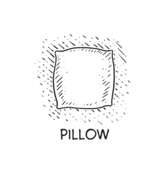 Pillow engraving style vector image
