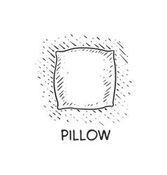 Pillow engraving style vector