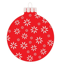 Red christams ball vector image