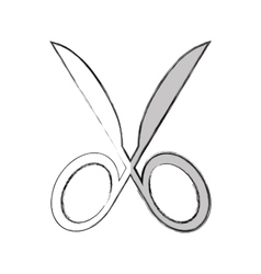 scissors silhouette isolated icon vector image vector image