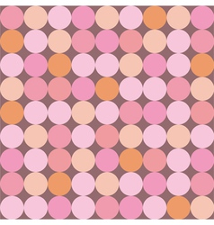 Seamless pattern or background with huge dots vector image vector image