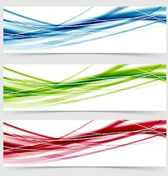 Soft speed rapid wave swoosh line header layout vector