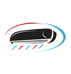 Split air conditioner cooling and heating icon vector