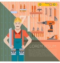 Tool shed with worker2 vector