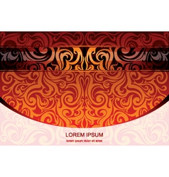 tribal background vector image vector image