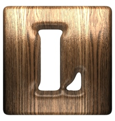 wooden figure l vector image vector image