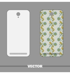 Phone Cover Blue Flowers vector image