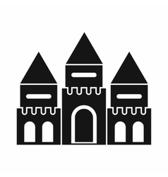 Children house castle icon simple style vector