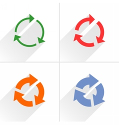 Color arrow refresh reload repeat icon on white vector