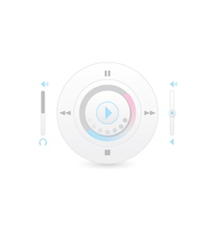 Music player control interface 2 vector