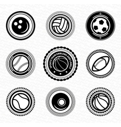 Sports team vitage retro badges and labels vector image