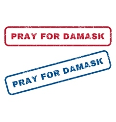 Pray for damask rubber stamps vector