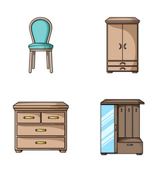 Armchair cabinet bedside table furniture and vector