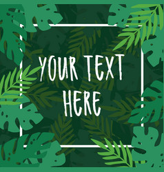Green tropical leaves background vector