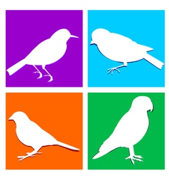 birds icon vector image