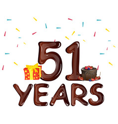 51st years greeting card vector image