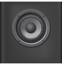 Sound speaker with grille vector